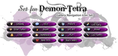 Gallery Navigate Icon Set - Demon-Tetra by Drache-Lehre
