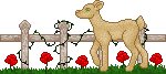 Deer w/ Roses Divider - F2U! by Drache-Lehre