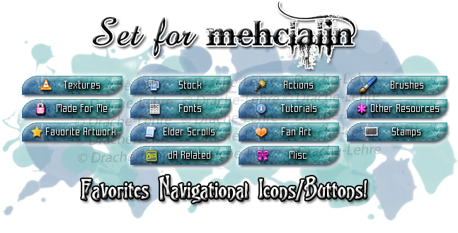 Favorites Navigate Icon Set - mehclalin by Drache-Lehre