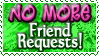NO MORE Friend Requests! - Stamp by Drache-Lehre