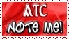 Art Status Stamp - ATC Note Me! by Drache-Lehre