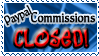 Art Status Stamp - Paypal Commissions Closed! by Drache-Lehre