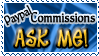 Art Status Stamp - Paypal Commissions Ask Me! by Drache-Lehre