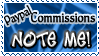 Art Status Stamp - Paypal Commissions Note Me! by Drache-Lehre