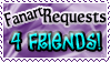 Art Status Stamp - Fanart Requests For Friends! by Drache-Lehre