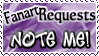 Art Status Stamp - Fanart Requests Note Me! by Drache-Lehre