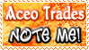 Art Status Stamp - Aceo Trades Note Me! by Drache-Lehre