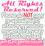 Simple All Rights Reserved! Banner (Pink) by Drache-Lehre