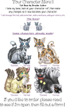 Sitting Cat Icon Info Sheet~! by Drache-Lehre