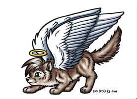 little winged wolf cardboard by Footroya