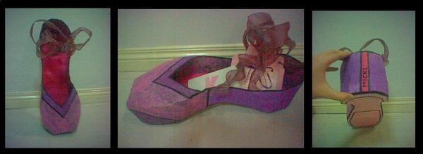Paper Mache Ballet Shoe by donutclick