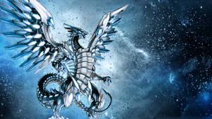 Blue-Eyes Chaos MAX Dragon wallpaper
