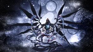 Galaxy-Eyes Dark Matter Dragon wallpaper