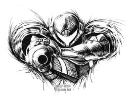 Samus Ink by Atticus-Kotch