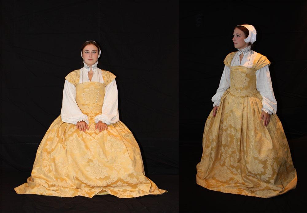 Yellow Renaissance dress by Celefindel