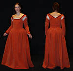 Orange Renaissance dress