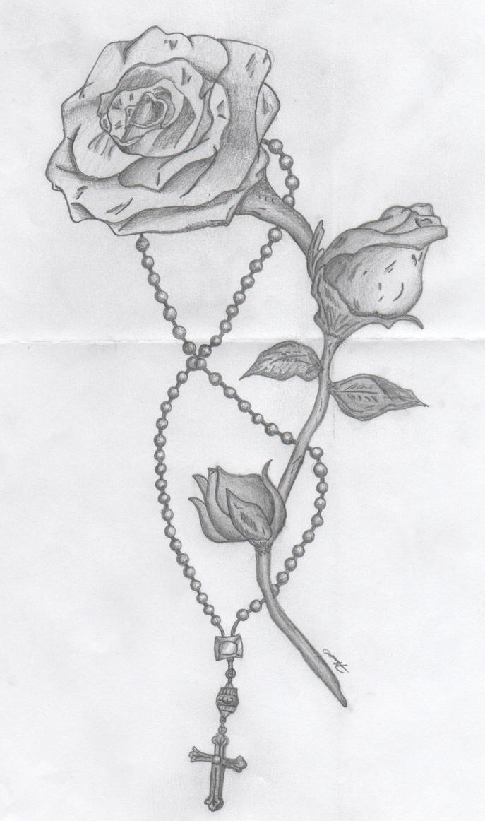 rose and rosary by diceman987 on deviantart