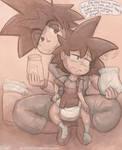 Goku and Gohan - Changing the Diaper