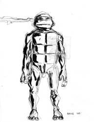 Quick Teenage Mutant Ninja Turtle drawing