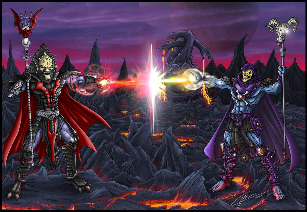 Hordak vs Skeletor by Laffler on DeviantArt