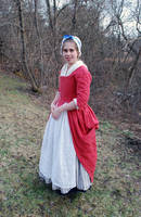 1770's Rose Gown Side by Goldenspring