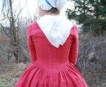 1770's Rose Gown Back Detail