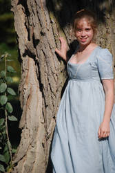 1805 Bib-fronted Dress - Front