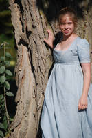 1805 Bib-fronted Dress - Front by Goldenspring