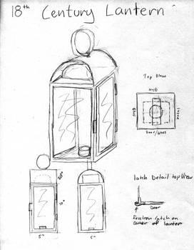 Candle Lantern building sketch