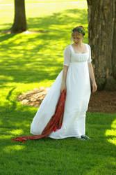 Regency Muslin Gown-Full skirt by Goldenspring