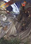Gandalf vs Nazgul