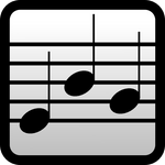 An icon for a music notes training app.