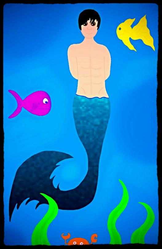 Mermaid Pete Wentz Version 2 by Charlotte-Lancer
