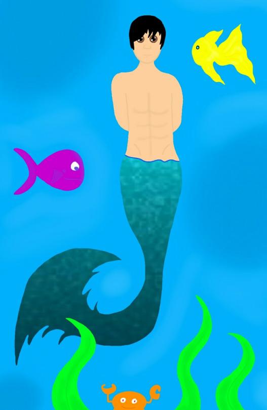 Mermaid Pete Wentz Version 1 by Charlotte-Lancer