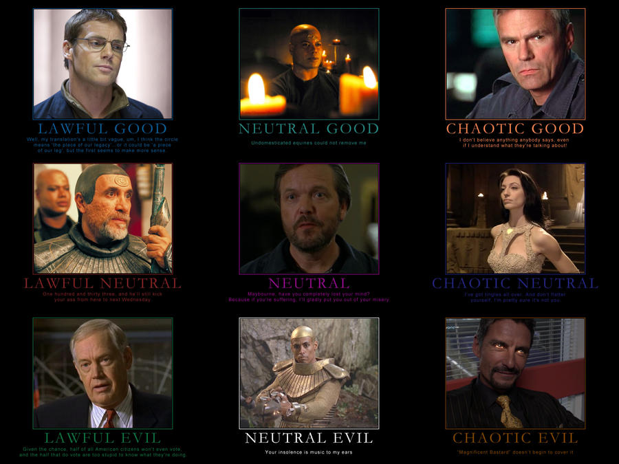 Stargate SG-1 Alignment Chart by CheeseDogX