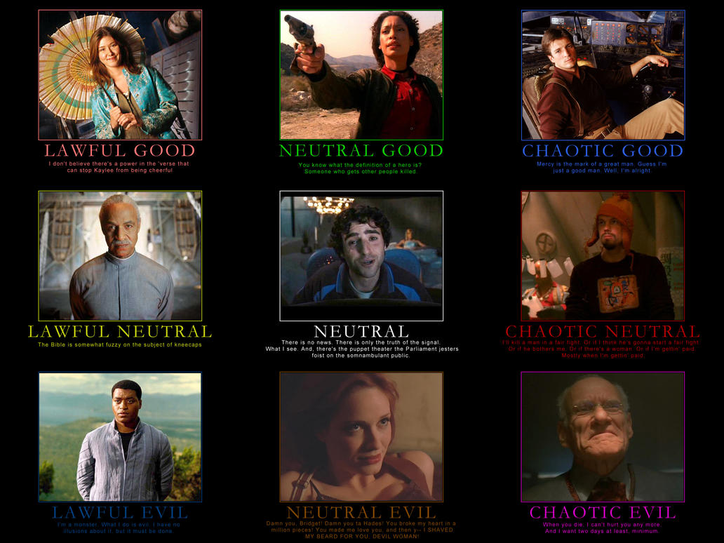 Firefly Alignment Chart by CheeseDogX