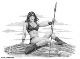 Spear Girl by EricKemphfer