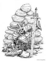 Skeletal Warrior by EricKemphfer