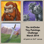 The ArtOrder tiny paintings challenge by EricKemphfer