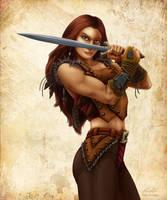 Sword Girl by EricKemphfer