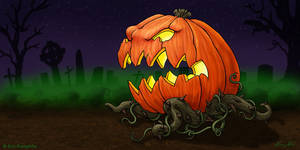 Creeper Pumpkin by EricKemphfer