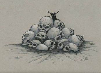 Grave Drawlloween/Inktober day 16 by EricKemphfer