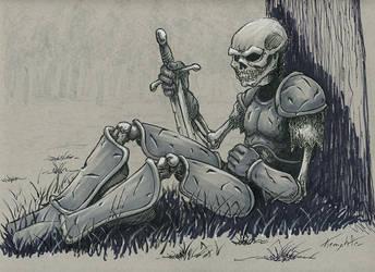 Skeleton Drawlloween/Inktober day 24 by EricKemphfer