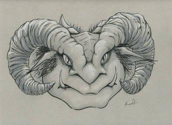 Ogre head sketch by EricKemphfer