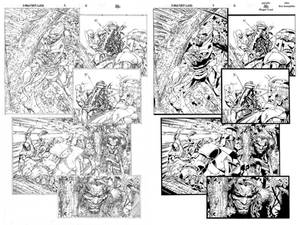 X-Men First Class 4 page 2 ink practice SideBySide