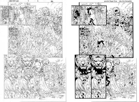 X-Men First Class 4 page 5 ink practice SideBySide