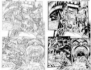 X-Men First Class 3 pg 16 ink practice SideBySide