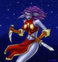 Lyssia, Night-Elf Rogue by EricKemphfer