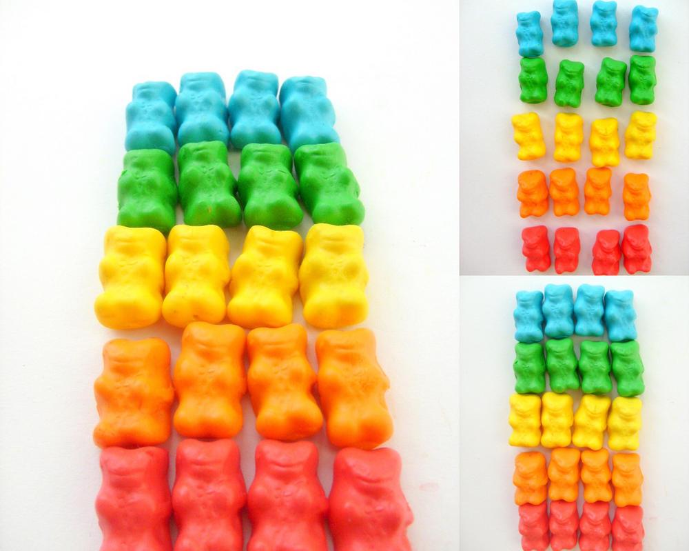 Haribo rainbow gummy bears by NimfVirTi