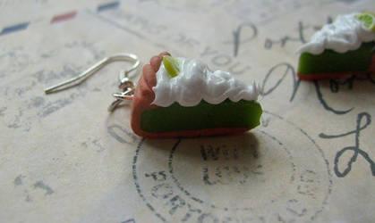 Lime cake - earrings